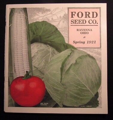1921 FORD SEED COMPANY CO CATALOG - RAVENNA OH  Ag Agriculture Farming Gardening