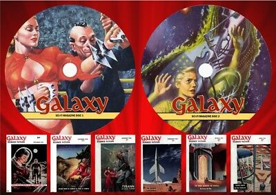 Galaxy Pulp Magazines On Two DVD Rom's