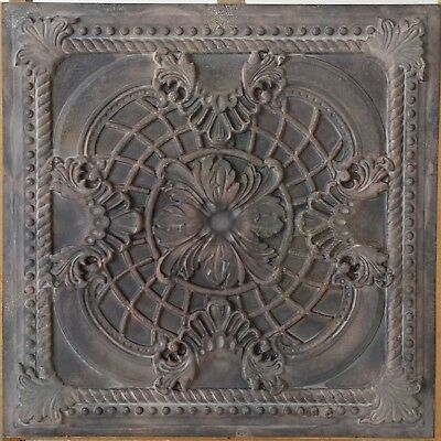 Faux tin ceiling tiles old wood color Decorative 3D wall panels 10tile/lot PL31
