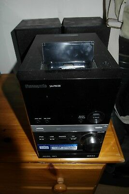 Panasonic SA-PM38DB CD/DAB/iPod Stereo System - Good Condition With Remote