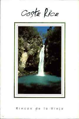 COSTA RICA Postcard Waterfall Wasserfall Vieja color AK frankiert mit Briefmarke