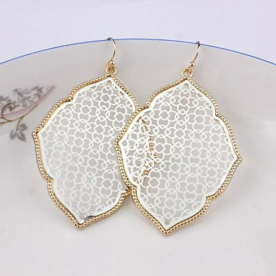 Classic Gold Filigree Moroccan Drop Statement Earrings for Women Fashion Jewelry