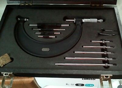 """Moore and Wright 0-6"""" combination micrometer full set No. 1044 VGC"""