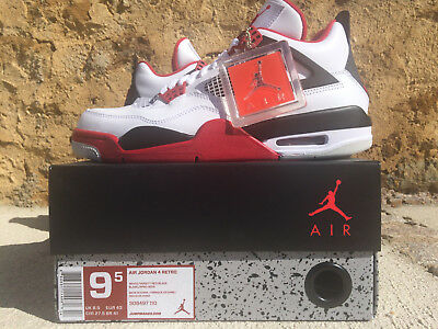 55cf77e9d61d NIKE AIR JORDAN 4 IV RETRO 43 9.5 Blanc Rouge 2012 Varsity Red 308497-110