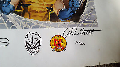 Marvel Millenium Moments Lithograph Signed And Sketched By John Estes