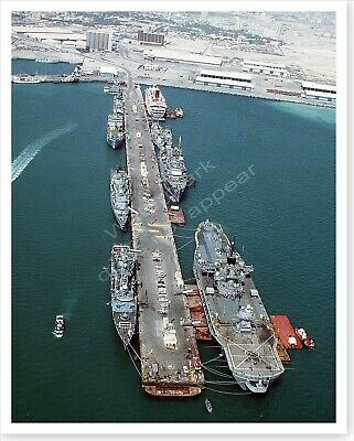 US And French Warships Moored In Bahrain Operation Desert Storm 8 x 10 Photo