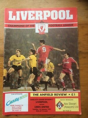 1990-1991  Liverpool v  Leeds United