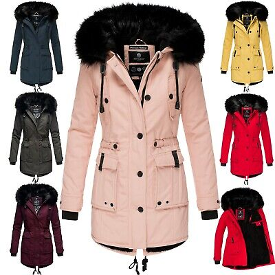 NAVAHOO DAMEN WINTER Jacke Parka Stepp winter Mantel Kapuze
