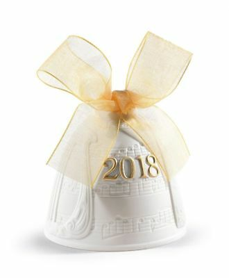 Lladro : 2018 Annual Christmas Bell Re-Deco Gold #01018438