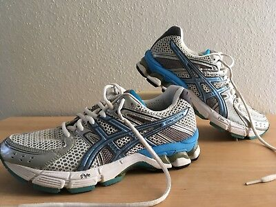 ASICS GEL 3030 Womens Running Training Shoes T196N Blue Silver White ... ad85588357