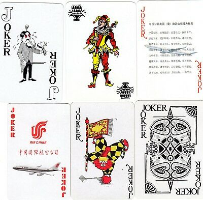 "6 x RARE MINT ""Airline"" JOKER Playing Cards #288"