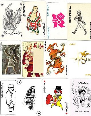 "12 Different OLD & NEW ""Mixed"" JOKER Playing Cards #289"