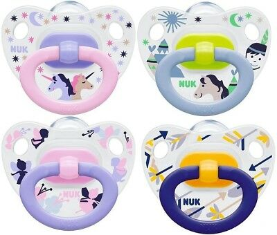 NUK Baby Pacifier Orthodontic Silicone BPA Free Soother Happy Days 0-6 / 6-18m