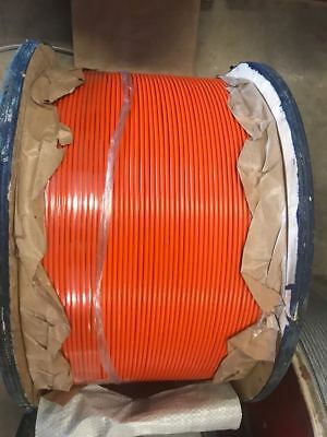 ORANGE Vinyl Coated Wire Rope Cable, 1/8 - 3/16, 7x7: 50, 100, 250 and 500 ft