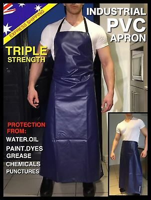 WATERPROOF APRON HEAVY DUTY PVC Protective Commercial WORK Aprons BEST INDUSTRY