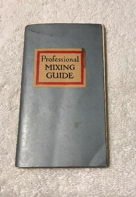 Vintage 1947 Professional Mixing Guide Bartender Mixed Drinks
