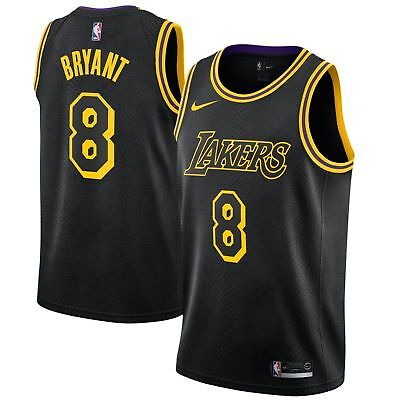 cheap for discount 4fa8f 62218 KOBE BRYANT 8 Los Angeles LAKERS Nike BLACK City Edition ...