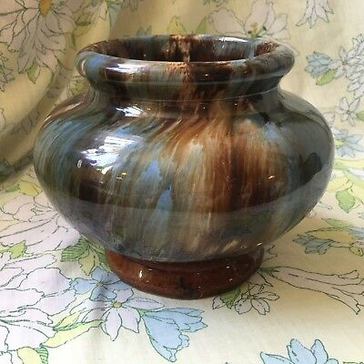 Brush McCoy Pottery Brown Blue Onyx Art Deco 1920s Jardinere Planter