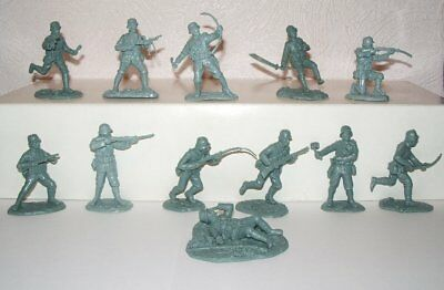 OWN Figures WW2 Chinese Nationalists. 1/32 plastic toy soldiers. Very rare !