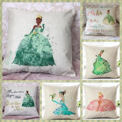 Disney Princess And The Frog Tiana Quotes Cushion Cover Pillow Case