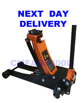5 Ton Tonne T Hydraulic Trolley Jack Floor Jack - NEXT DAY DELIVERY
