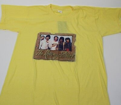 1bbc10fe226b Vintage 1978 The Rolling Stones T-Shirt Mick Jagger Iron On Rock Yellow