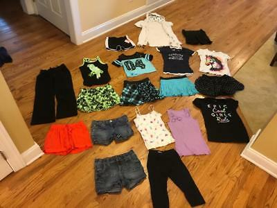Girls huge mixed clothing lot Justice, Disney, Mossimo, EUC, size 10