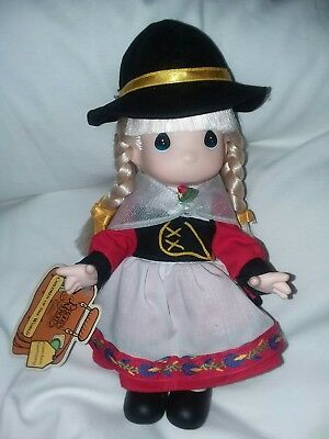 Precious moments doll 9 in children of the world Gretchen  Germany w tag 1994