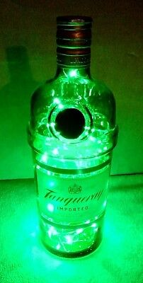 Tanqueray Gin Green Led Lighted Bottle/lamp~Subtle Liquor Lights & More