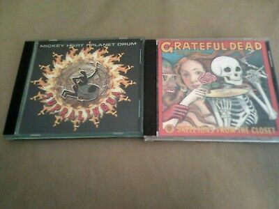 Lot of 2 Grateful Dead/Mickey Hart CDs Best Of Skeletons From Closet Planet Drum