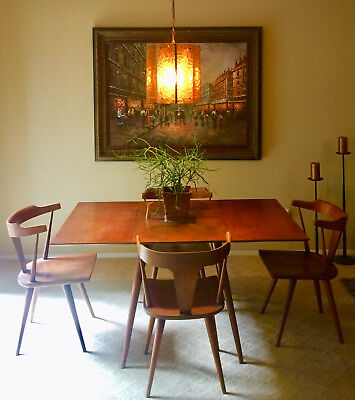 Mid Century Modern Paul Mccobb Planner Group Table And T Style Chair Dining Set
