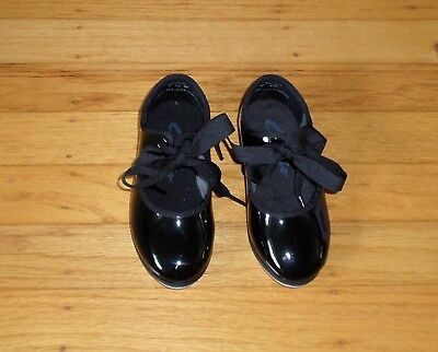 CAPEZIO Black TAP SHOES Size 7.5W Toddler Girl