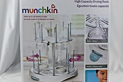 Munchkin High Capacity Drying Rack holds up to 16 bottles or cups NIB