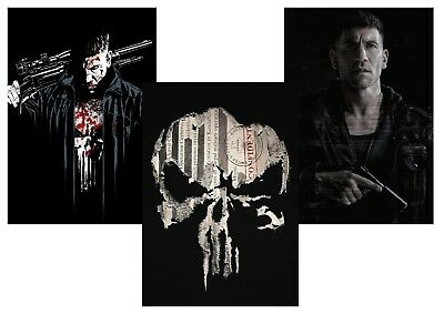 Marvel Comics  The PUNISHER  Frank Castle A5 A4 A3 T.V. Series Posters