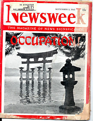 September 3, 1945 Newsweek Magazine-Occupation Of Japan-Vintage Ads-Rare
