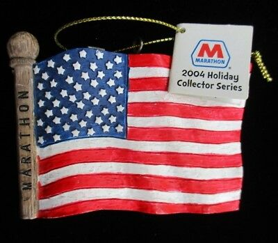Ornament MARATHON OIL & GAS 2004 FLAG Holiday Collector Series 4 ~ nos nwt