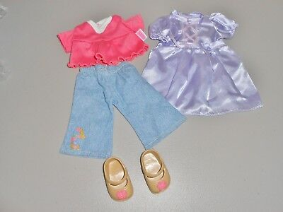 "Fisher Price Little Mommy 12"" - 13"" Doll Clothes Shirt Pants Dress Shoes"