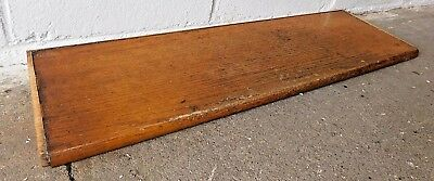 1910 Wooden ANTIQUE Solid Oak STAIR TREAD Craftsman Stairway Bullnose Stair  STEP