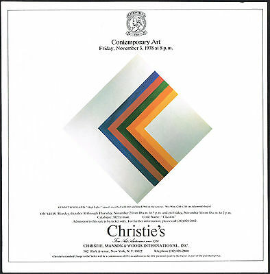 1978 Vintage Kenneth Noland High Light Art Christies Auction Print Ad