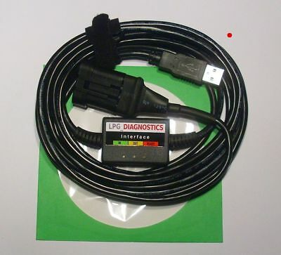 AC STAG 200,300,Q/FEMITEC/LOVATO LPG GPL Diagnose Kabel USB INTERFACE+Softw/Anl