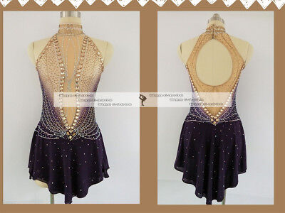 Ice/Roller Figure Skating Dress/Baton Twirling outfit/Tap leotard Made to Fit