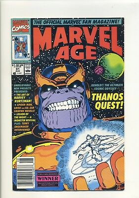 Marvel Age 91 preview of Thanos Quest, basis of Avengers Infinity War Gauntlet