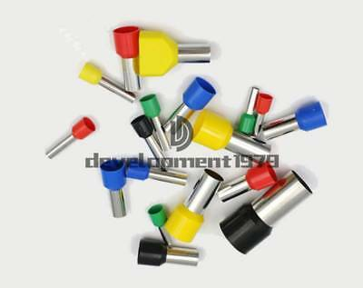 500 × Red Cable Pre-Insulated Ferrules Terminal Wiring Connectors E7508 20AWG