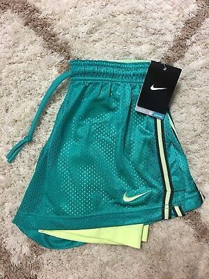 New Nike Dri Fit Women's Teal Mesh Lined Training Shorts Size Small