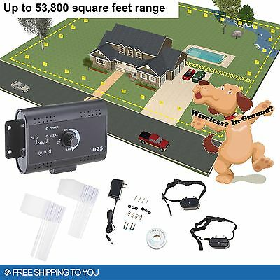 Electric Dog Fence System  for 2 Dogs Water Resistant Shock Collars