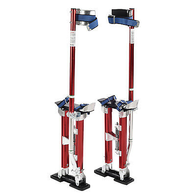 18-30 inch Aluminum Drywall Stilts Dual Spring Drywall Painting Work Stilts Red