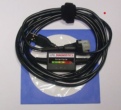 BIGAS/ AEB/KING/ EUROPEGAS/ DT Gas LPG GPL Diagnose Kabel USB INTERFACE +Softw.