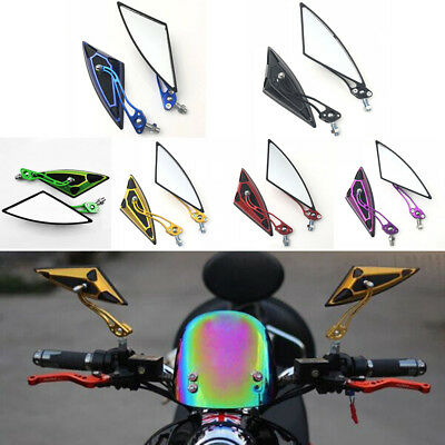 1Set Universal 8mm 10mm Motorcycle E-bike Rearview Side Mirror 6Colors