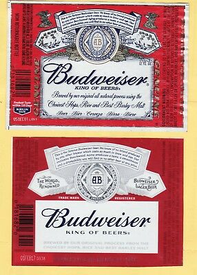 SET Of 2 DIFFERENT RED BEER LABELS