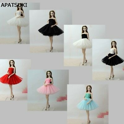 7pcs Fashion Dress 1/6 Short Dresses For 11.5inch Doll Clothes For 1:6 Outfits